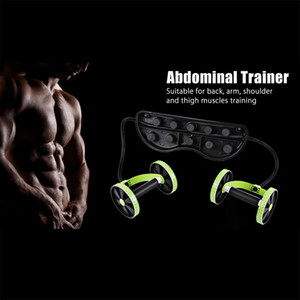 Ab Roller Fitnessgeräte Bauchtrainer Trainer Puller Roller Abnehmen Muskeltrainer Workout-Tool-Widerstand-Bänder
