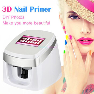 Date automatique intelligent numérique 3D Smart Imprimante À Ongles Polonais Machine / Peinture À Ongles Machine D'impression DIY Nail Art Équipement