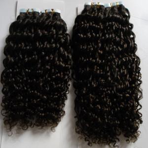 Кудрявый вьющиеся бразильские ленты для волос 100 г Реми ленты в наращивание волос человека 80 шт. Кожи уток ленты в наращивание волос человека бесплатная доставка