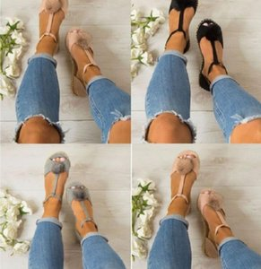 lady women candy color hollow dress shoes velvet bucket Sandals fur ball deco fly fish mouth flat bottom Shoes A206