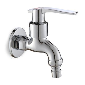 ROLYA Washing Machine Faucet Wall Mop Pool Sink Water Tap Single Cold Bib Cock Chrome