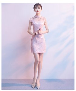 2018 fall vintage style short elegant skirt, for young girl, party dress,lovely pink princess color