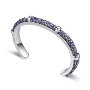 Neue Mode Kristall Von Swarovski Metall Manschette Armbänder Armreifen Für Frauen Luxus Hochzeit Büro Schmuck Mädchen Geschenk
