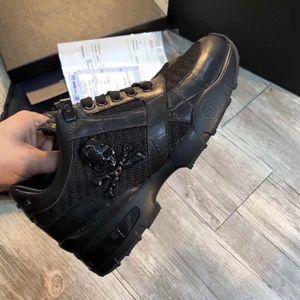 Los hombres de los zapatos casuales de alta calidad de los hombres del cráneo pp zapatos de cuero-7003 deportes de los hombres