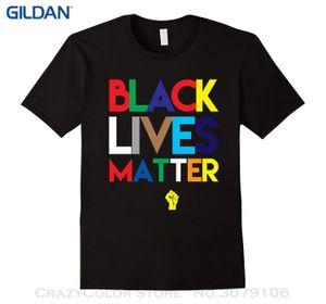 Marca de algodão homens clothing masculino slim fit camiseta preta vidas importa camiseta