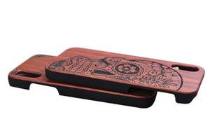 العلامة التجارية الجديدة الخشب حالة الهاتف للحصول على غطاء اي فون X خشبية عالية الجودة حامي كوكه صدمات