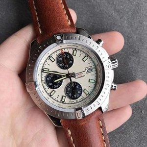 44 mm potro Automático Chorograph trabajando M1338810 7750 mecánico de cristal de zafiro impermeable reloj para hombre reloj de pulsera todos los sub diales de trabajo.