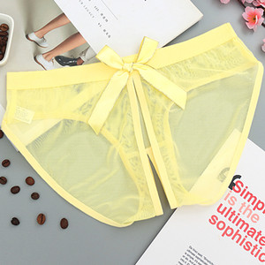 Femmes Culotte Sous-Vêtements Ouvert Sexy Culotte Seethrough Slip Culottes Femme Mesh Intime Charmming Low Bragas 5005n
