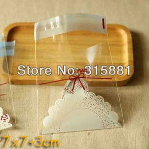Hand Made Plastic Bags Wrapping Packaging Bags, Self-adhesive Clear Plastic Bags 600pcs lot