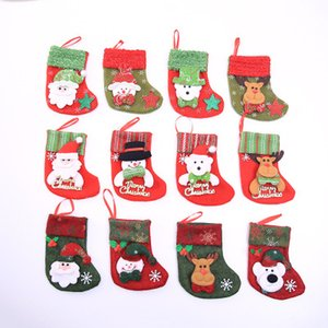 Noel Stocking Chrismas ağacı Dekorasyon çocuk hediye çantası Ev Noel Ağacı Süsler Hediye Sahipleri için Çorap