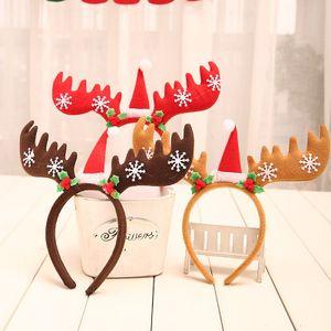 Fasce di Natale cervi Fascia per capelli natalizia Renna Antlers Fascia per Cosplay per feste di Natale per adulti