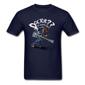 T-shirt Doctor VS All Time Space Punk Music Band Top Maglietta per uomo Guitar Player Tshirt Funky Summer Black Clothing