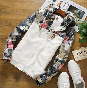 Floral Branco Mulheres Homens Jaqueta de Inverno Quente Jaqueta Bomber Mulheres Roupas Casaco Camisola Blusão Slim Fit Outerwear