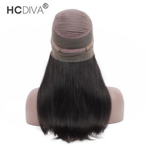 HCDIVA 헤어 제품 360 가발 레이스 정면 인간의 머리 가발 미리 뽑아서 150 % 밀도 브라질 헤어 레미와 브라질 스트레이트 가발