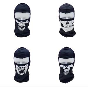 máscaras de fantasmas completa da face do crânio impressão Máscara chapéu Motociclista Balaclava Dustproof à prova de vento máscaras de desporto ao ar livre tático skull hood