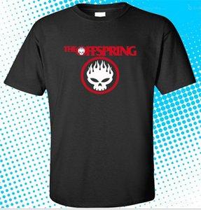 Nuevo The Offspring Logo Rock Band camiseta negra para hombre Tamaño S a 3xl Manga corta de verano Camiseta de algodón Moda
