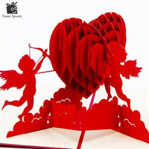 3D المنبثقة بطاقات المعايدة عيد ميلاد بطاقات المعايدة هدية القلب فارغة خمر دعوة خطاباتخطابهزوجات رسائل الحب