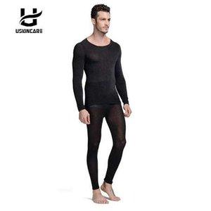 원활한 겨울 37 학위 남자 슬리밍 따뜻한 열 속옷 초박 히트 긴 존스 슈퍼 탄성 Thin Body Suit Homme
