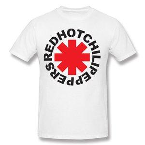 Moda Hombre 100% Algodón Banda de rock Red Hot Chili Peppers Camiseta Hombre Cuello redondo Negro Camisetas de manga corta Camiseta S-6XL Casual