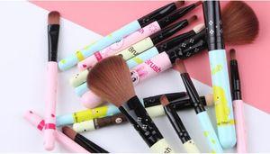 5pcs Oval Makeup Brush Set Professional Foundation Eyeliner Powder Cosmetics Make Up Beauty Makeup Brushes Tools Eyeshadow Brush