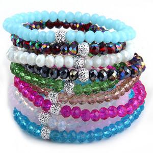 Spedizione gratuita Energia bracciali realizzati Bella Multil vetro 6MM braccialetto 10pc colore diverso / lot