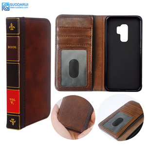samsung galaxy S9 Artı / S7 / S8plus Kapak Cüzdan Retro İncil Vintage Kitap İş Kılıfı Flip Deri hücre Telefon Kılıfı