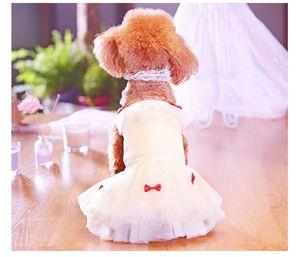 Pet Lace vestido Tutu para cães Roupas Traje Princesa Cão Pequeno vestidos de verão Supplies filhote de cachorro Casamento Chihuahua