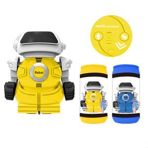 Latas elétrica Robô com luz e música lançador balançou brinquedos educativos sua cabeça das crianças fornecimento grossista presentes do Natal Crianças Brinquedos