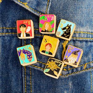 QIHE SIERADEN Anne Of Green Gables، Alice in Wonderland، De Catcher in de Rogge Boek pins Revers pin Badges Boek broches