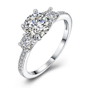 Bijoux de fiançailles brillant CZ bague femmes anniversaire cadeau Twilight princesse couronne Anel bagues bague femme en gros