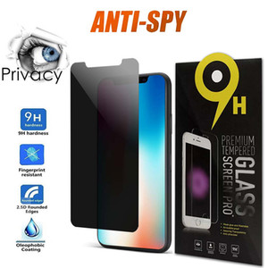 Anti Spy Privacy Glass para iPhone 12 11 Pro Max XR XS 7/8 Plus Protector de pantalla Privacidad Vidrio templado para iPhone 8 Plus XS MAX 11 PRO