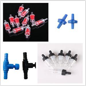 100pcs / lot 수족관 공기 흐름 밸브 컨트롤러 체크 밸브 에어 튜브 커넥터 에어 컨트롤 밸브 에어 펌프 액세서리