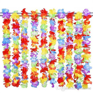 Inches Rainbow Flower 40 Artificial Beach Garland Multi Necklace Luau Party Gay Pride Hawaiian Leis Colour Euecs