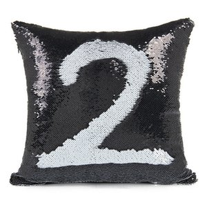 2018 Sequin PillowCase Sequins Cushions Cover Reversible Pillow Covers Sofa Car Cushion for Office Home Decoration Free Shipping 500pcs