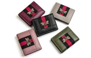 Kadın cüzdanı. Kısa. Gerçek Deri. Yumuşak inek derisi. Kadın billfold. Sıfır çanta. Küçük. Monokromatik. Cüzdan. Kart çantası. A6532-A