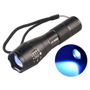 365nM 395nM 4W Puissance LED Aluminium Zoom Lampe de lampe de poche UV Lampe à lumière noire tactile Voilet Lampe de lampe UV pourpre