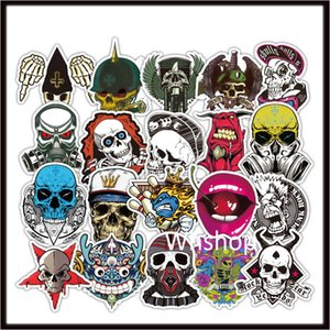 방수 스티커 해골 해골 데칼 비닐 사이드 도어 포스터 휴대 전화 자동차 트럭 창 오토바이 헬멧 호퍼 바이커 스티커