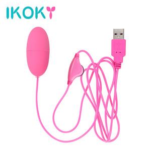 Ovo de sexo Máquina poderosa Ikoky Clitóris USB Estimulador Vibrante Sexo Vibrador S921 Bullet Brinquedos para Mulheres Adulto Multi-Speed