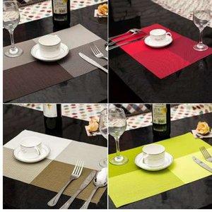 1 stück Tischsets Küche Tischsets Dinning Wasserdichte Tischset 7 Farben Dekoration PVC Tischdecke