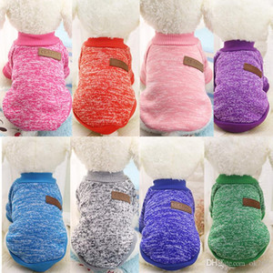 Envío gratis Classics Pet Dog Sweater Coat Clothes Autumn Warm Defensive Cold Cotton Puppy Cat Knitting Perros Sweatershirt Ropa