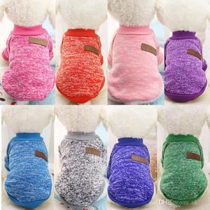 Ücretsiz kargo Classics Pet Köpek Kazak Coat Giyim Sonbahar Sıcak Defansif Soğuk Pamuk Yavru Kedi Örgü Köpekler Sweatershirt Giyim