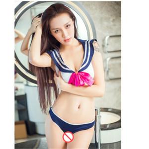 Студент униформа японский и корейский симпатичные сплит плед костюмы сексуальное женское белье пижамы набор униформа приманка