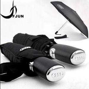 2018 Big Fashion High Quality Business Umbrellas for  black/blue parasol three folding men Automatic Umbrella Male Paraguas