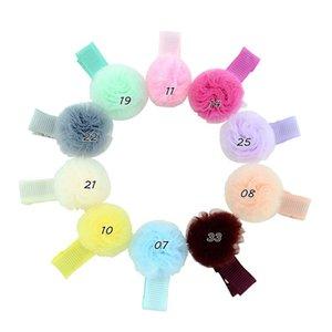 Commercio all'ingrosso coreano Fasion ragazze garza sfera dei capelli del bambino dell'arco Pom Pom tornante bambini Boutique Barrettes Accessori per capelli Bambini Pompon Headwear H59