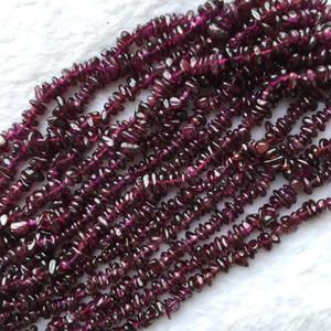 """Descuento venta al por mayor Natural Rose Purple Garnet Nugget Chip Loose Beads Forma libre 3x6mm Fit Collar de la joyería Pulseras 15.5 """"05592"""