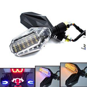 2 Parça için 30 LED Motosiklet Dönüş Sinyali Işık Esnek Döner Evrensel Göstergeler için Kawasaki için DUCATI