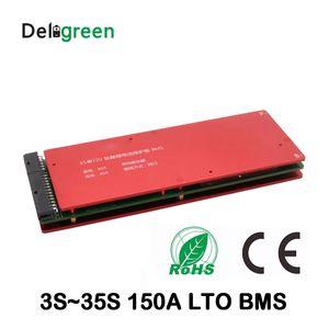 Tarjeta de protección de batería LTO 3S 5S 10S 15S 20S 25S 30S 35S 150A bms con función de equilibrio 18650 titanato de litio batería