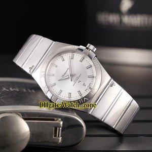 38mm Nueva Fecha Whtie Dial Japón Miyota 8215 Reloj automático para hombre Correa de acero inoxidable Relojes de alta calidad para hombre OMG-A13