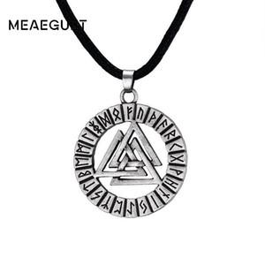 Pagan Amulet Pendant Ancient Silver Men Collana Scandinavo Viking Odin's Symbol Viking Warrior Slavic Norway Valknut Gioielli
