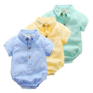 Детская одежда лето новорожденный мальчик девочка одежда набор Детская мода roupas инфантильные Менино продукты одежда младенцы отворот тела комбинезон